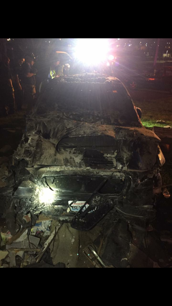 One man is injured after another man crashes car into home