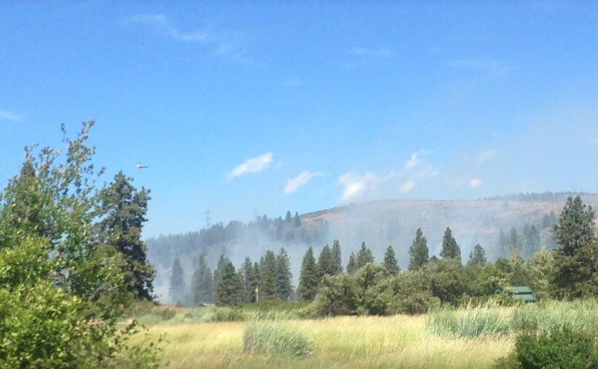 Kittitas Valley Fire and Rescue crew worked to subdue fire