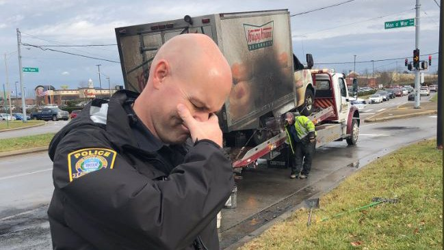 Police officers mourn Krispy Kreme doughnut truck fire in viral tweet