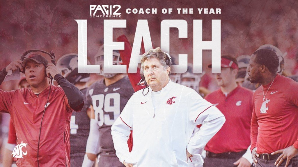 WSU's Mike Leach honored with Pac-12 Coach of the Year award