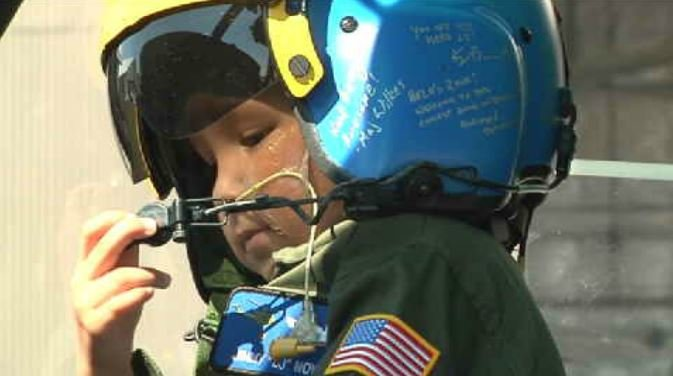 Four-year-old battling leukemia fulfills dream at Fairchild AFB