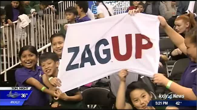 Local elementary school supports the Zags