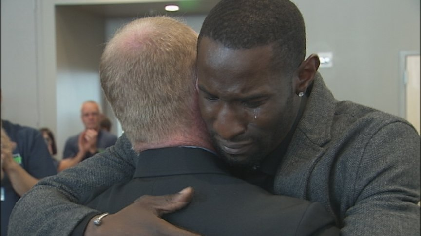 Lockette reunites with paramedics who saved his life