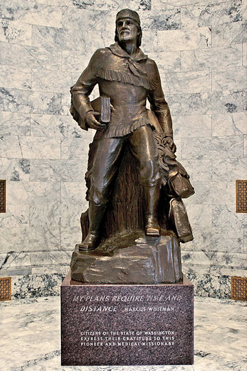 Research team proposes Marcus Whitman statue relocation