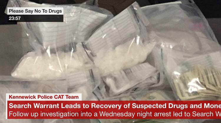 Kennewick Police Department seize pounds of drugs, thousands of dollars in bust