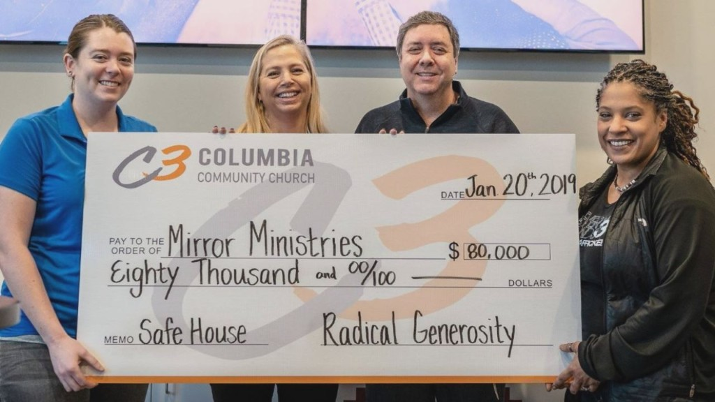 $80,000 donation will go towards home for minor girls who have been sex trafficked