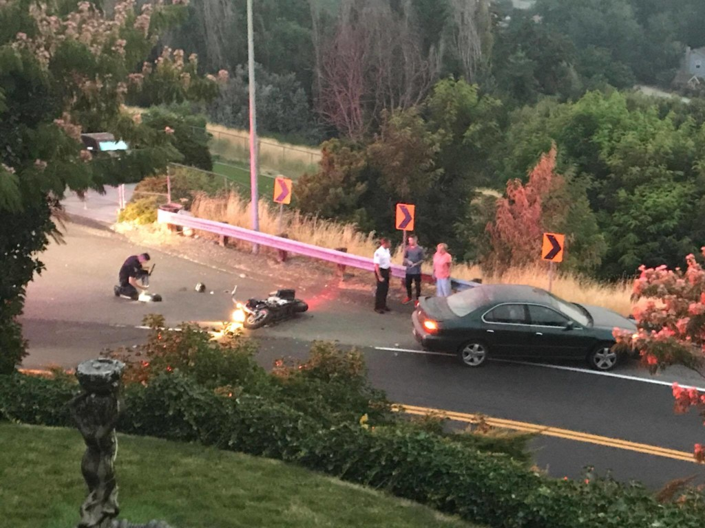 Motorcyclist injured after collision on Dayton St. and 26th Place in Kennewick
