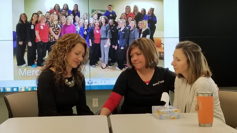 A group of nurses won the lottery but gave their winnings to two colleagues who needed it more