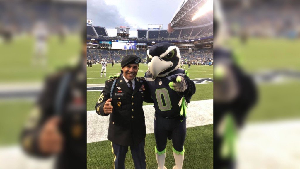 Yakima police officer takes part in Seahawks opening flag ceremony