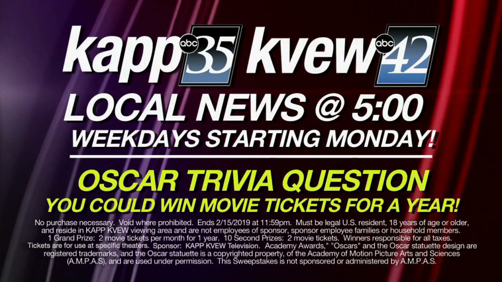 KAPP-KVEW CELEBRATES THE OSCARS CONTEST RULES