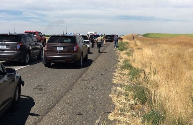 5 Hells Angels arrested for shooting motorcyclist on Highway 395