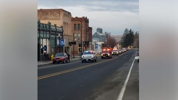 Procession held for Walla Walla County firefighter who died in crash