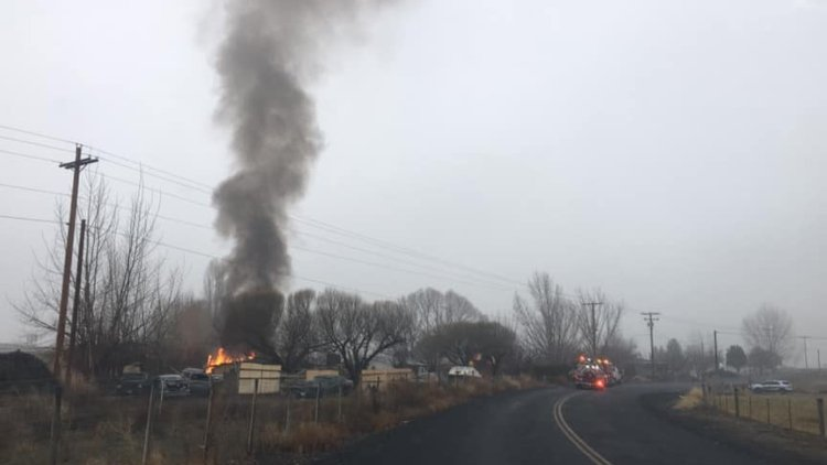 Fire at shed, camper in Prosser likely caused by space heater, homeowner says
