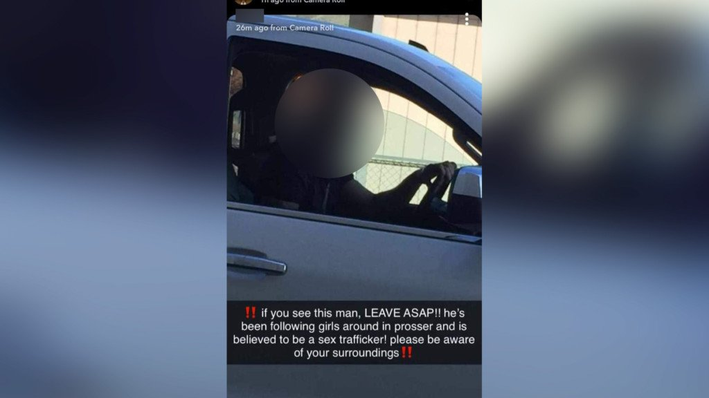 Prosser police say viral photo falsely accuses man of sex trafficking
