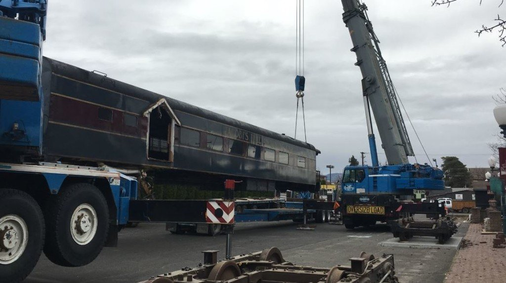 Iconic rail car moved to make room for new steakhouse, brewery in Walla Walla