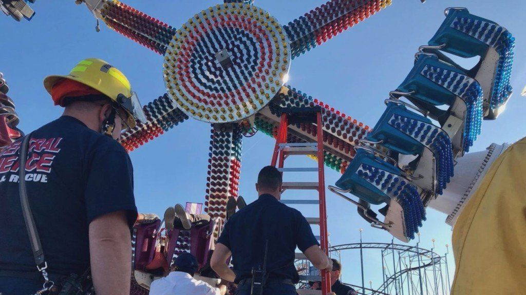 Fire crews rescue 19 people from Washington State Fair ride