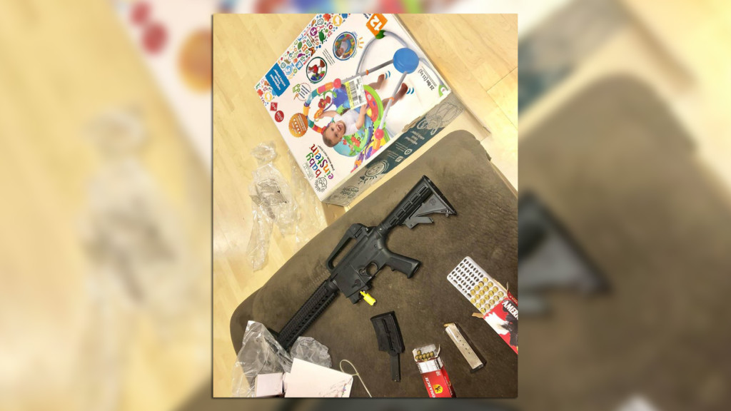 Woman buys baby bouncer at Goodwill, finds loaded semi-automatic rifle inside