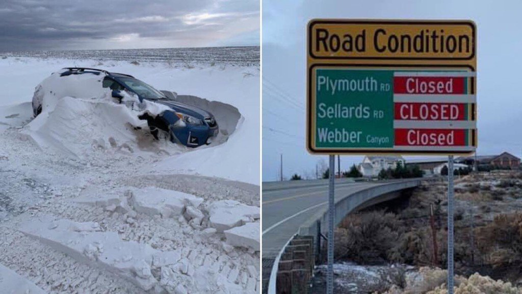 Some roads closed in Benton County as crews work to get to abandoned vehicles