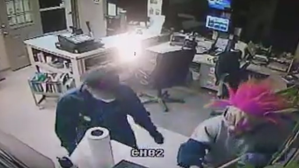 Landscaping product business burglarized by two masked men