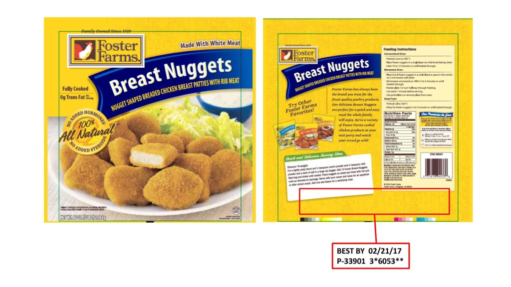 Foster Farms recalling chicken nuggets