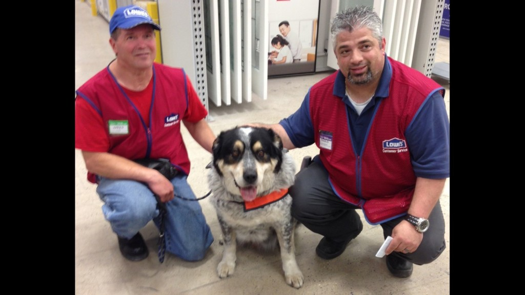 Lowes hires man and his service dog when no one else would