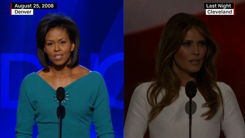 Campaign denies Melania Trump's speech plagiarizes parts of Michelle Obama's