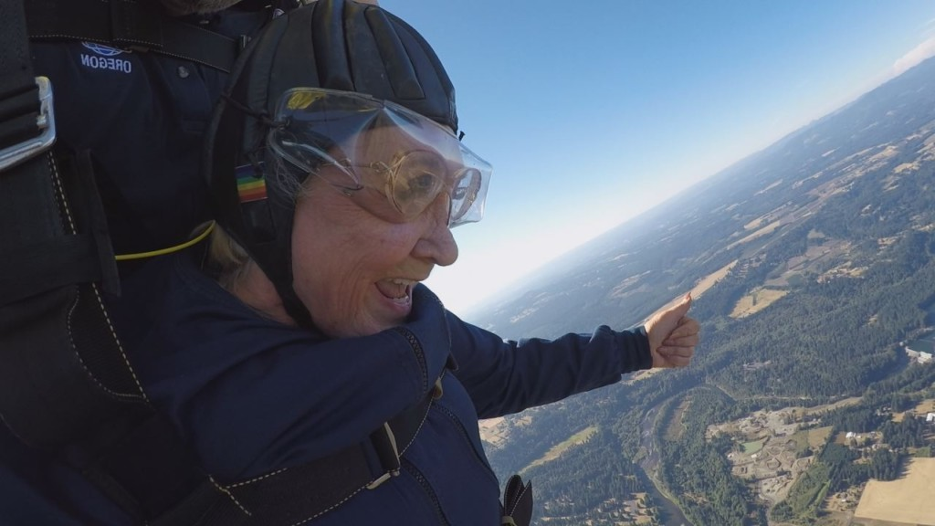 Flying high: 81-year-old goes skydiving