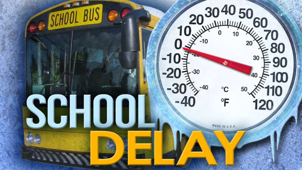 SCHOOL DELAYS WEDNESDAY 2/21