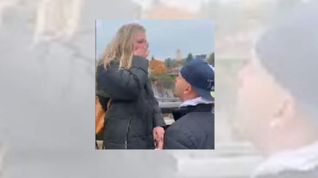 Spokane couple looking for man who caught their proposal on video