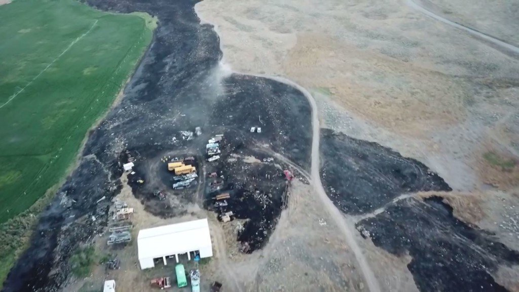 Spring Coulee Fire burns 142 acres in Okanogan Co.