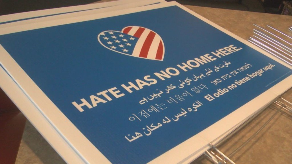 New batch of 'Hate Has No Home Here' signs available in the Tri-Cities