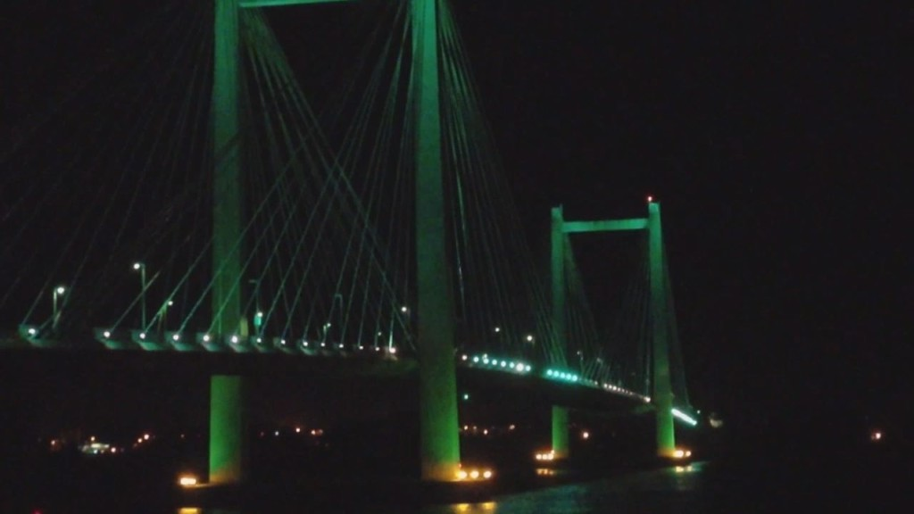 Cable bridge to be lit teal for ovarian cancer awareness in September