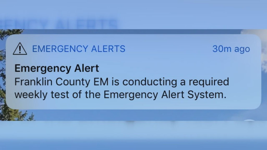 Franklin Co. Emergency Management sends out alert by mistake