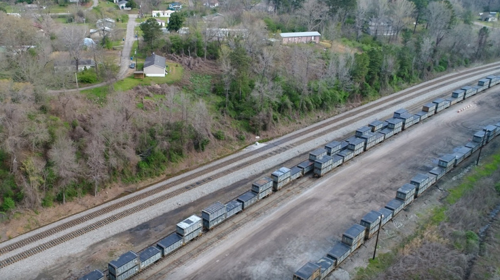 Train carrying 10 million pounds of human feces stranded in Alabama