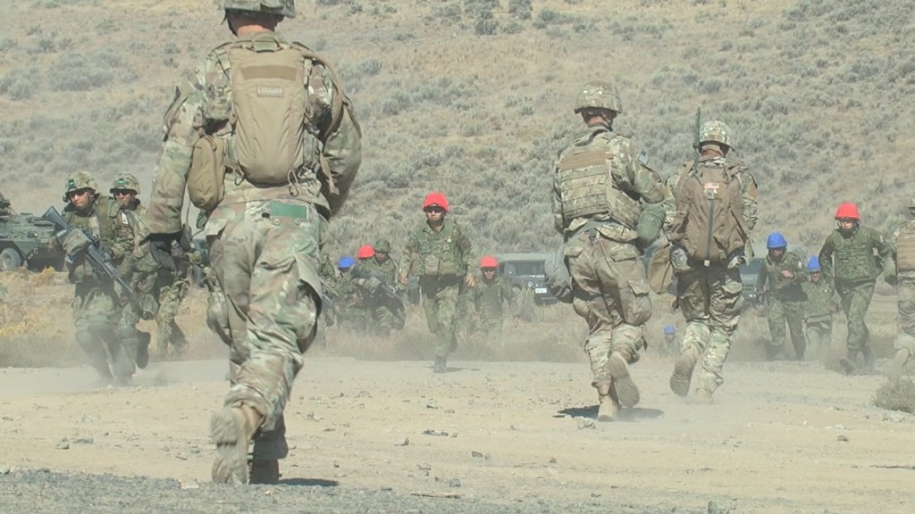 U.S. and Japanese soldiers join forces at Yakima Training Center's annual Rising Thunder 18