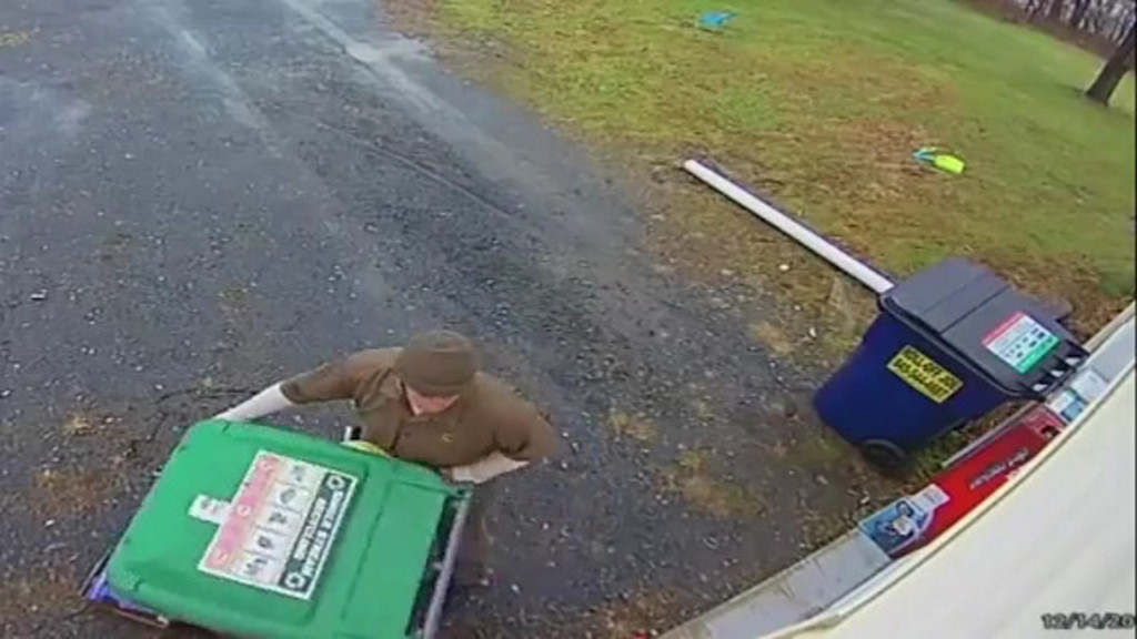 UPS driver hides toy to not spoil surprise