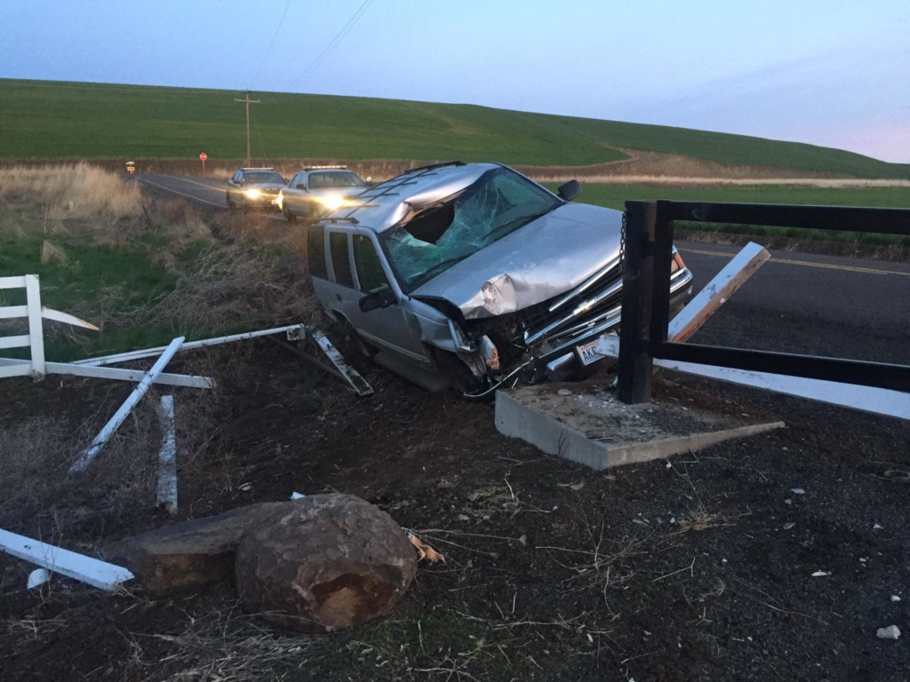 Abandoned vehicle found crashed in Walla Walla