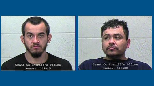 2 men wanted in Grant County robbery, unlawful imprisonment