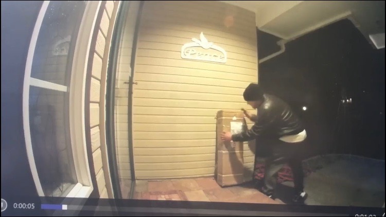Porch pirate on the loose in Kennewick
