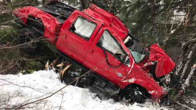 Man says he survived 700-foot fall near White Pass after someone forced him off the road
