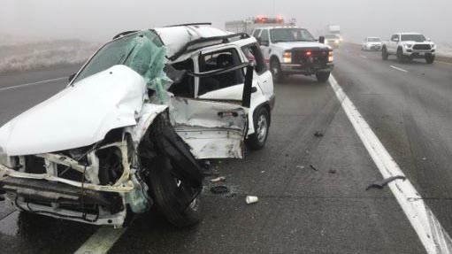 Driver in serious condition after I-82 crash south of Kennewick