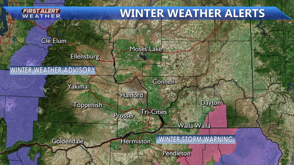 Winter Storm Warning in place for the Northern Blues