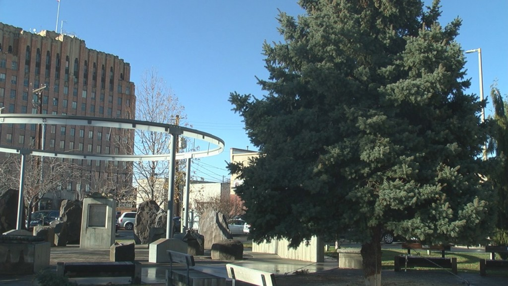 Christmas tree arrives in downtown Yakima