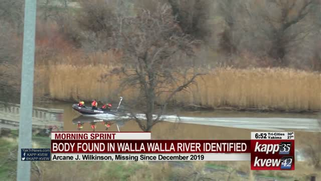 Body found in river belonged to missing College Place man