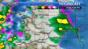 Friday afternoon rain showers