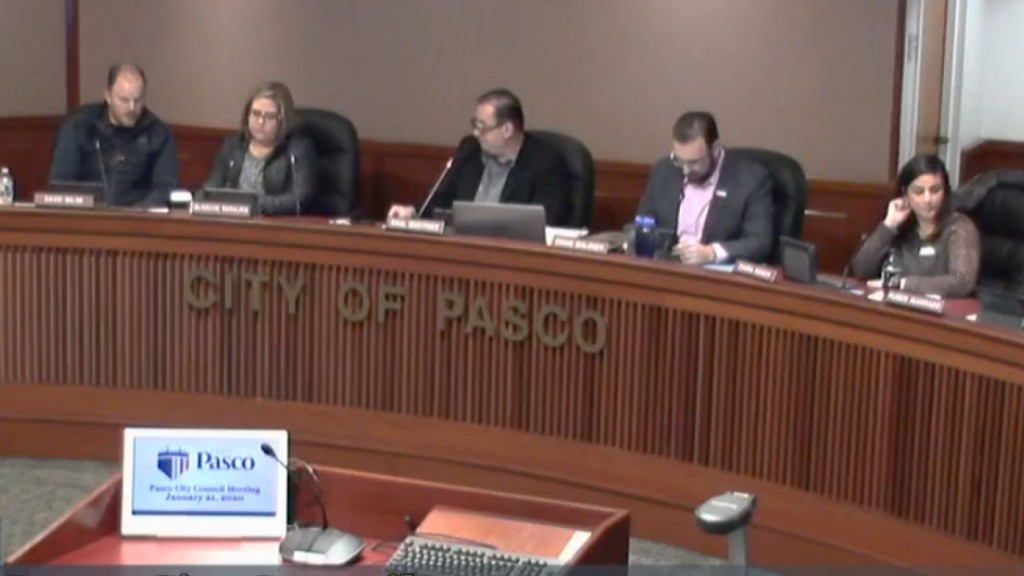 view of Pasco City Council members