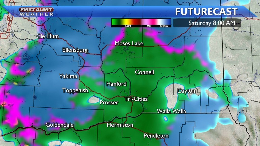 Saturday AM wintry mix