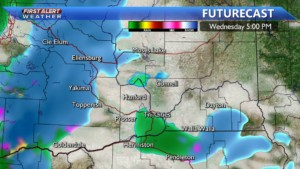 Wednesday afternoon snow developing