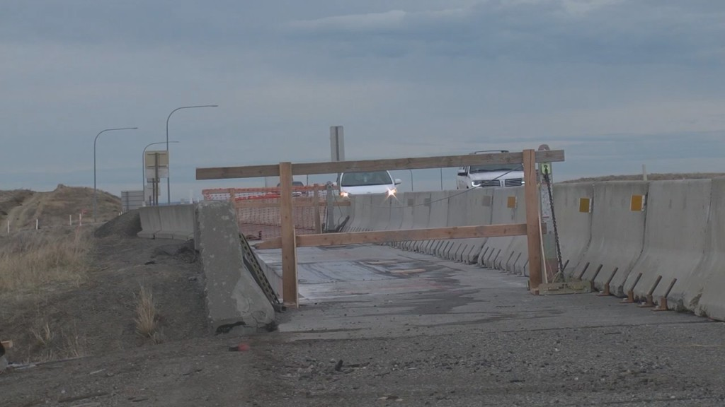 Bridge demolition at I-82, SR 397