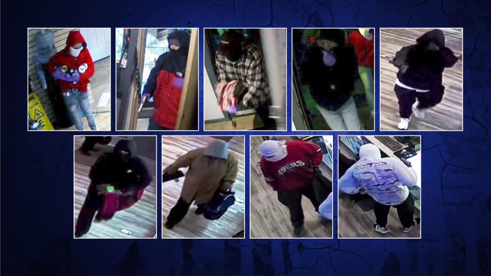 9 suspects in robberies